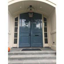 Exterior blue door